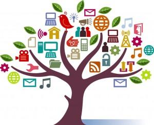 árbol de social media